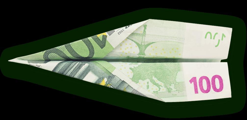 Самолет направен от банкнота